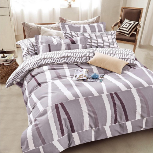 Комплект постельного белья из сатина (Евро) Д-4302