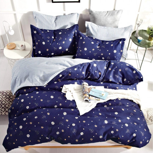 Комплект постельного белья из сатина (Евро) Д-4305