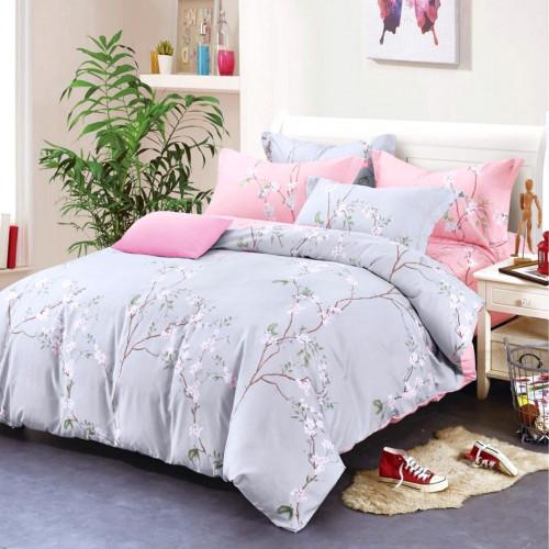 Комплект постельного белья из сатина (Евро) Д-4306