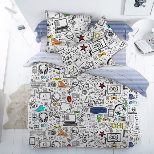 Комплект постельного белья Детский Поплин DL-20
