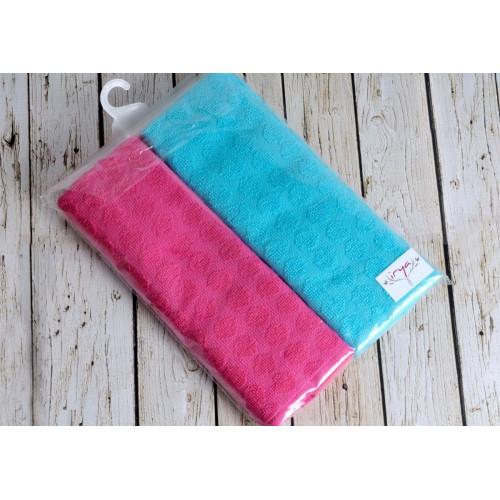 Mavi-Fusya Point (голубой-фуксия) Кухонное полотенце-набор