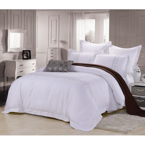 Комплект постельного белья Хлопок сатин с вышивкой ES-20