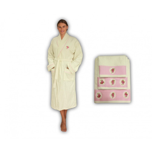Полотенце банное ROSA Cream (кремовый)