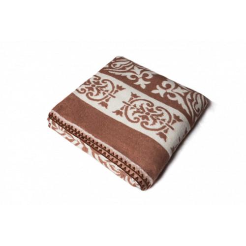 Одеяло Хлопок100% арт.1-33 (темно-коричневый орнамент)