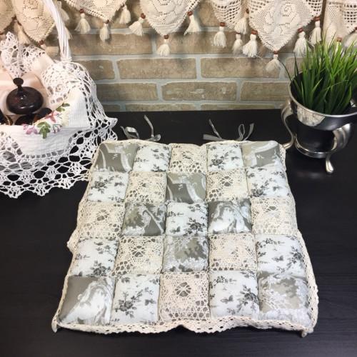 Подушка для стула пэчворк дизайн 27