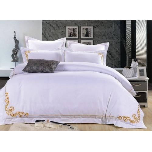 Комплект постельного белья Хлопок сатин с вышивкой ES-19