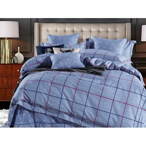 Комплект постельного белья 1,5-спальный, печатный сатин 1014-4S