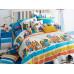 Комплект постельного белья 1,5-спальный, печатный сатин 1021-4S
