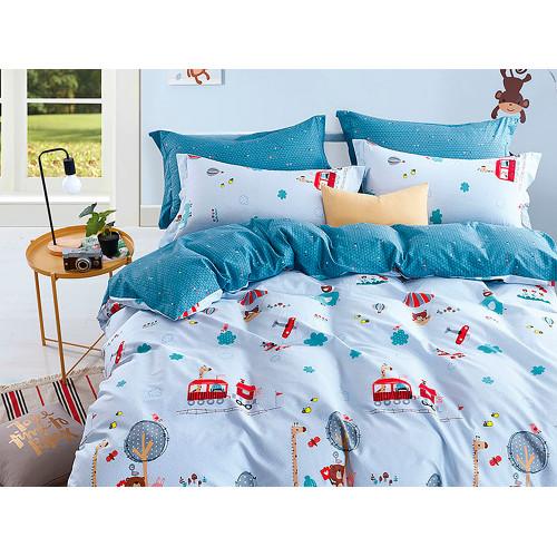 Комплект постельного белья 1,5-спальный, печатный сатин 1025-4XS