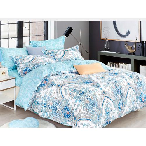 Комплект постельного белья Семейный, печатный сатин 1026-7