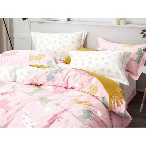 Комплект постельного белья 1,5-спальный, печатный сатин 1086-4S