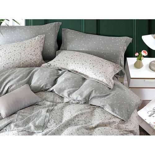 Комплект постельного белья 1,5-спальный, печатный сатин 1087-4S