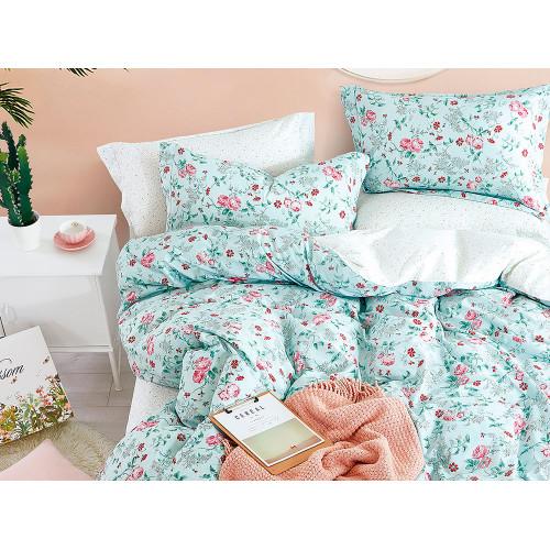 Комплект постельного белья 1,5-спальный, печатный сатин 1090-4S