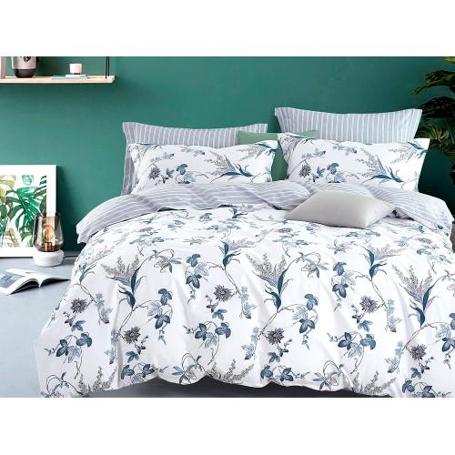 Комплект постельного белья 1,5-спальный, печатный сатин 1101-4S