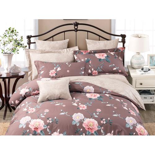 Комплект постельного белья Семейный, печатный сатин 1109-7