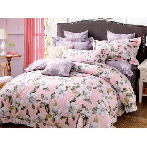 Комплект постельного белья Семейный, печатный сатин 1113-7