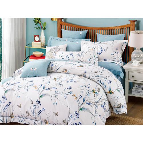 Комплект постельного белья 1,5-спальный, печатный сатин 1114-4S