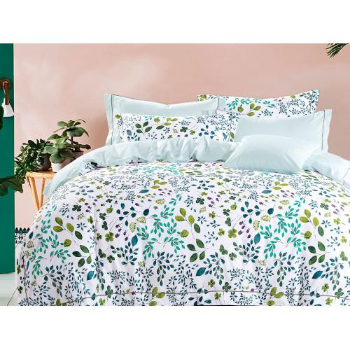 Комплект постельного белья 1,5-спальный, печатный сатин 1128-4S