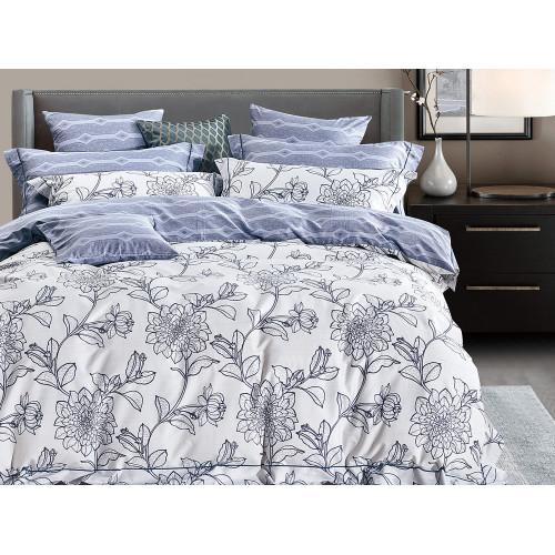 Комплект постельного белья Евро, печатный сатин 377-6