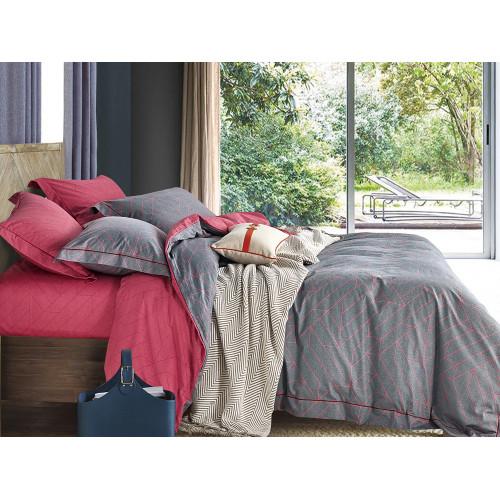 Комплект постельного белья 1,5-спальный, печатный сатин 398-4S