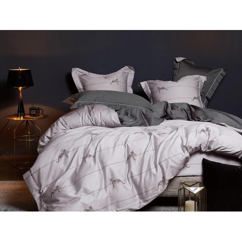 Комплект постельного белья Евро, Египетский хлопок 425-6