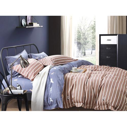 Комплект постельного белья Евро, фланель 451-6