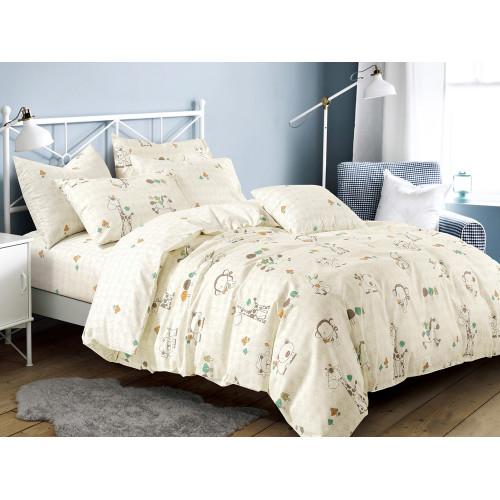 Комплект постельного белья 1,5-спальный, печатный сатин 474-4XS