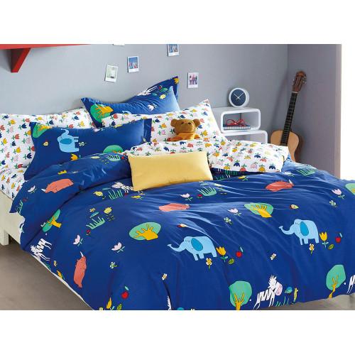 Комплект постельного белья 1,5-спальный, печатный сатин 493-4XS