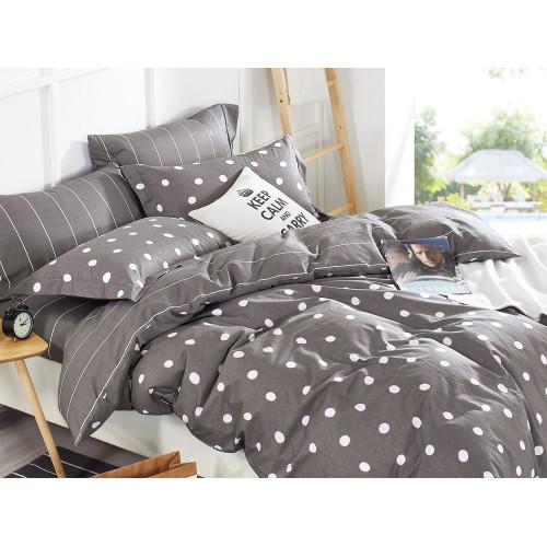 Комплект постельного белья 1,5-спальный, печатный сатин 505-4S
