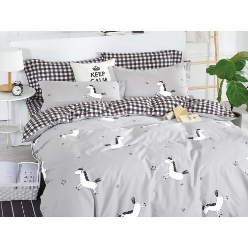 Комплект постельного белья 1,5-спальный, печатный сатин 506-4S