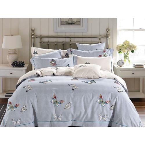 Комплект постельного белья Семейный, печатный сатин 513-7