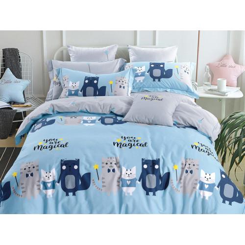 Комплект постельного белья 1,5-спальный, печатный сатин 516-4S