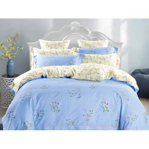 Комплект постельного белья Семейный, печатный сатин 518-7