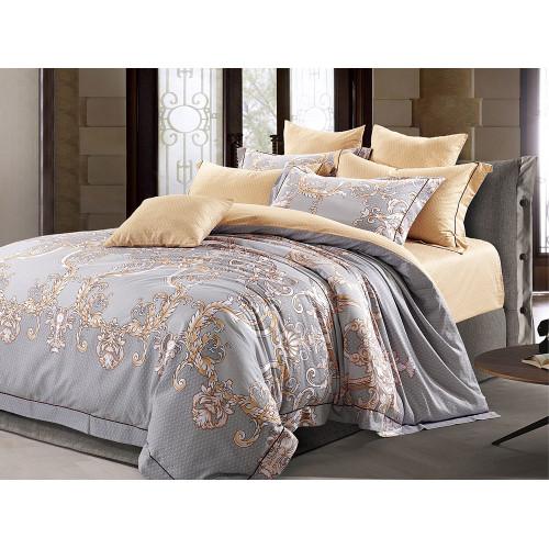 Комплект постельного белья Евро, печатный сатин 520-6