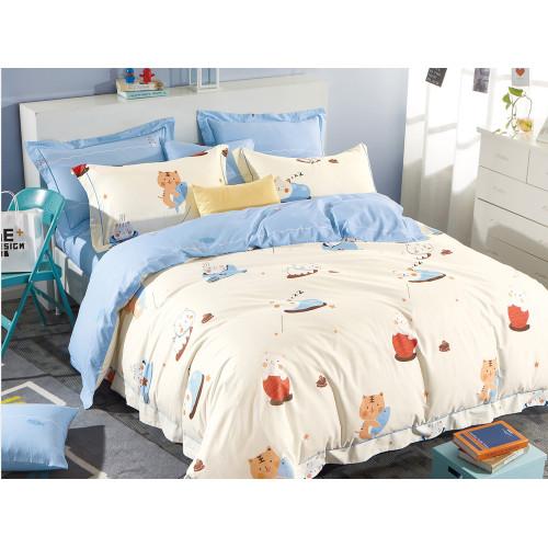 Комплект постельного белья 1,5-спальный, печатный сатин 528-4XS