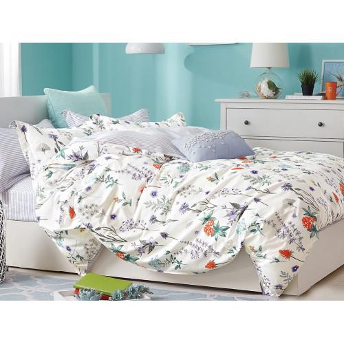 Комплект постельного белья 1,5-спальный, печатный сатин 529-4S