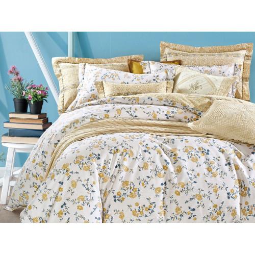 Комплект постельного белья 1,5-спальный, печатный сатин 978-4S