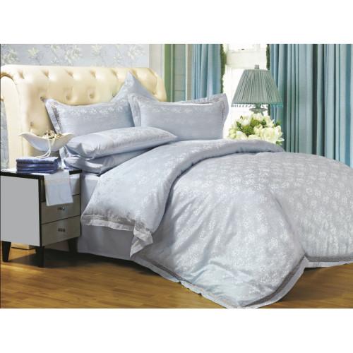Комплект постельного белья Евро, жаккард 609-4